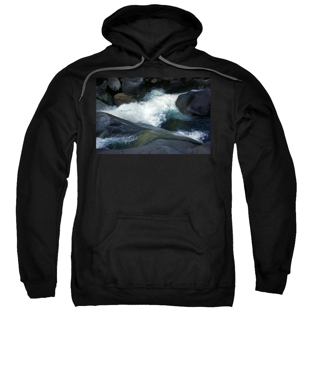 Fineart Sweatshirt featuring the photograph Tropical Flowing Waters Josephine Falls by Kerryn Madsen- Pietsch