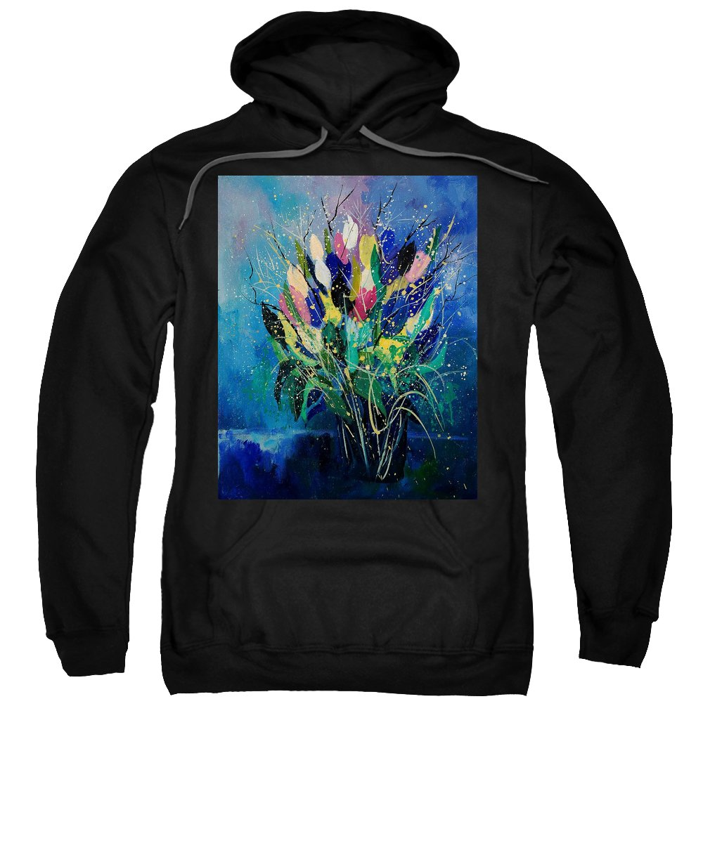 Flowers Sweatshirt featuring the painting Tulips 45 by Pol Ledent