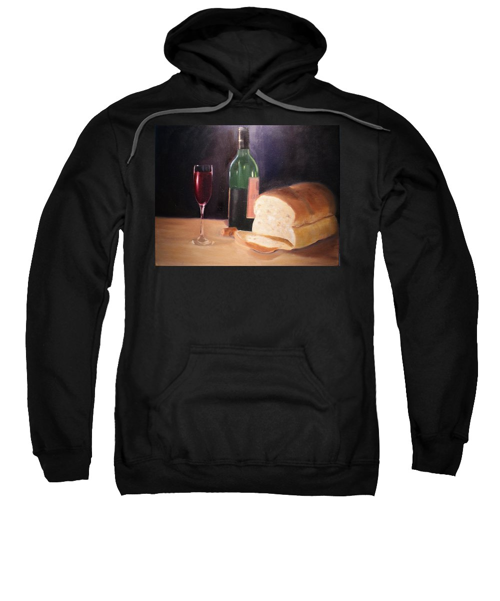 Wine Sweatshirt featuring the painting Untitled by Toni Berry