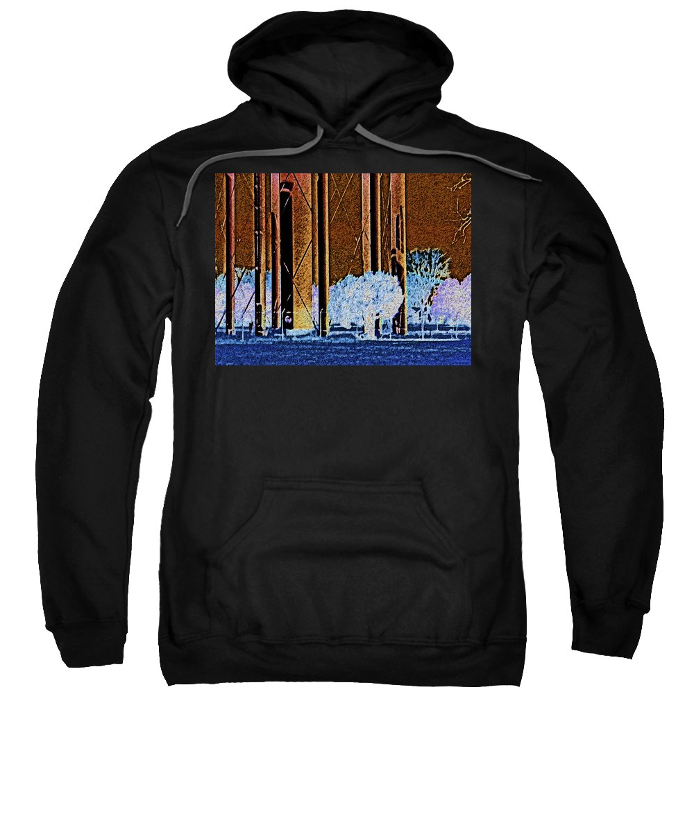 Abstract Sweatshirt featuring the photograph Urban Landscape by Lenore Senior