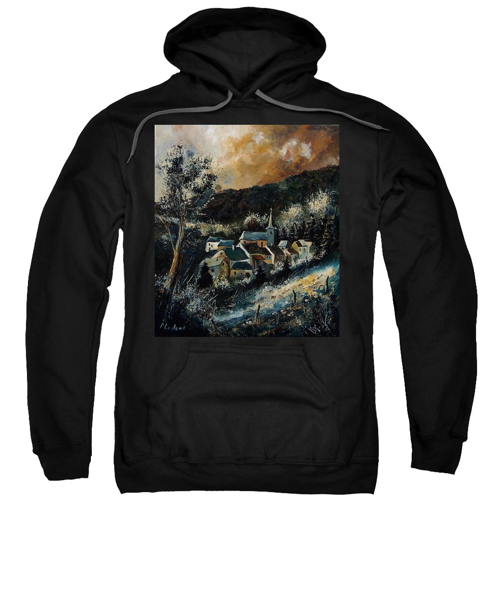 Tree Sweatshirt featuring the painting Vencimont 78 by Pol Ledent