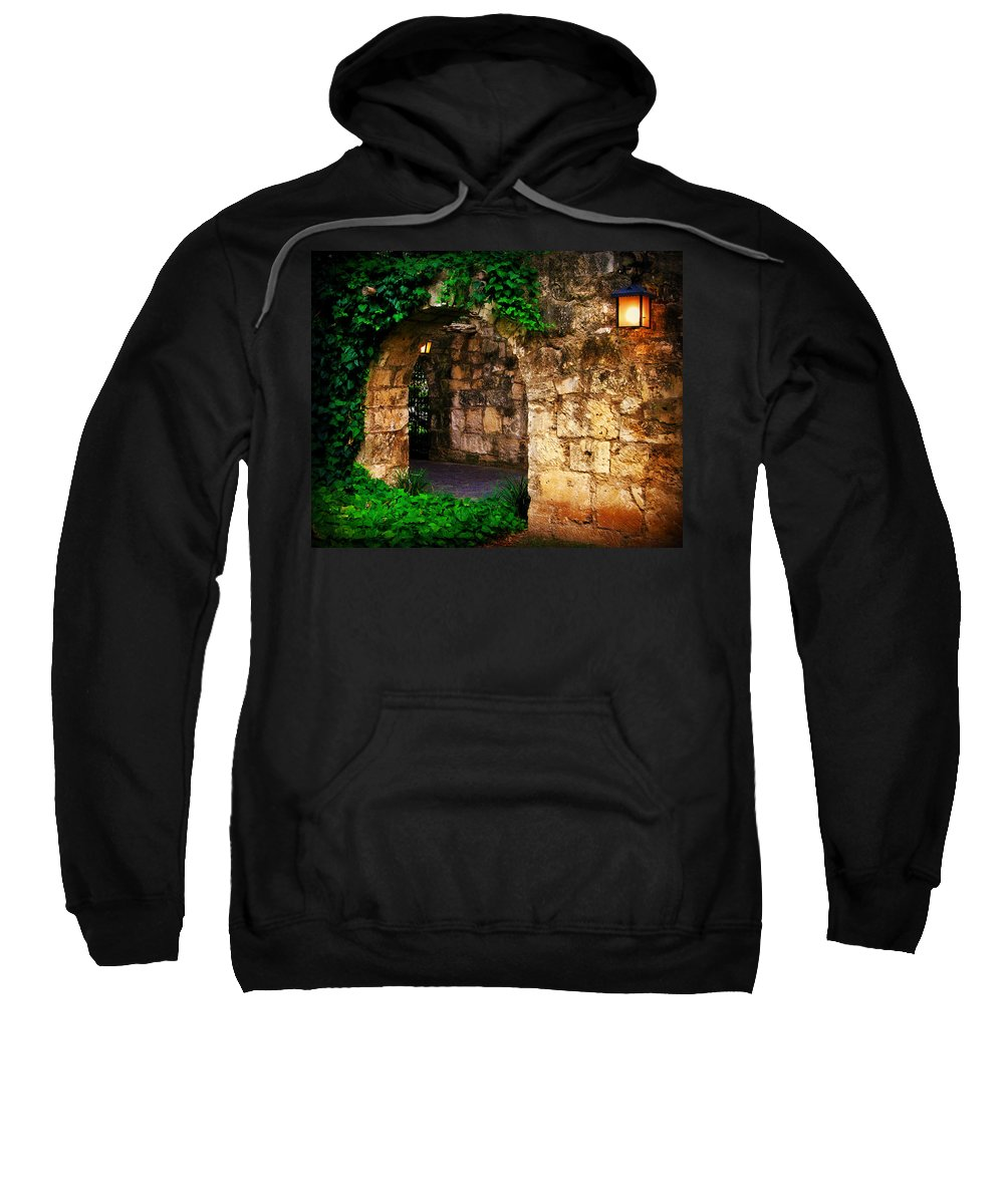Wall Sweatshirt featuring the photograph Vine Wall by Perry Webster