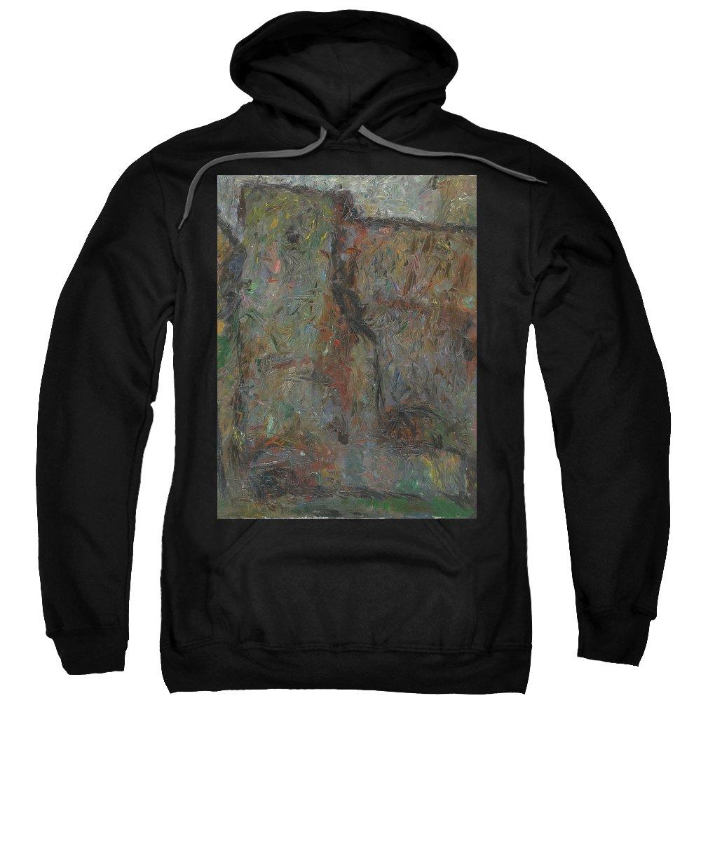 Wall Sweatshirt featuring the painting Wall by Robert Nizamov