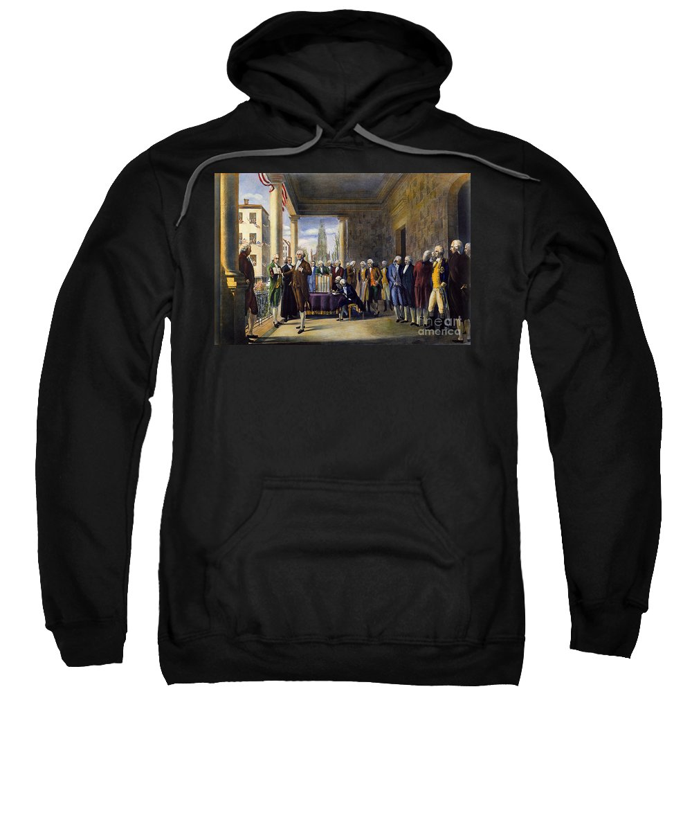 1789 Sweatshirt featuring the photograph Washington: Inauguration by Granger