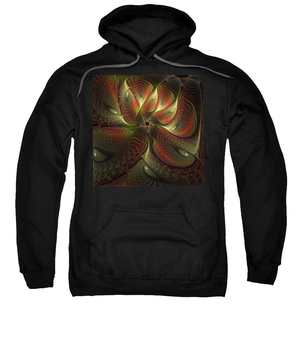 Digital Art Sweatshirt featuring the digital art Watchful by Amanda Moore