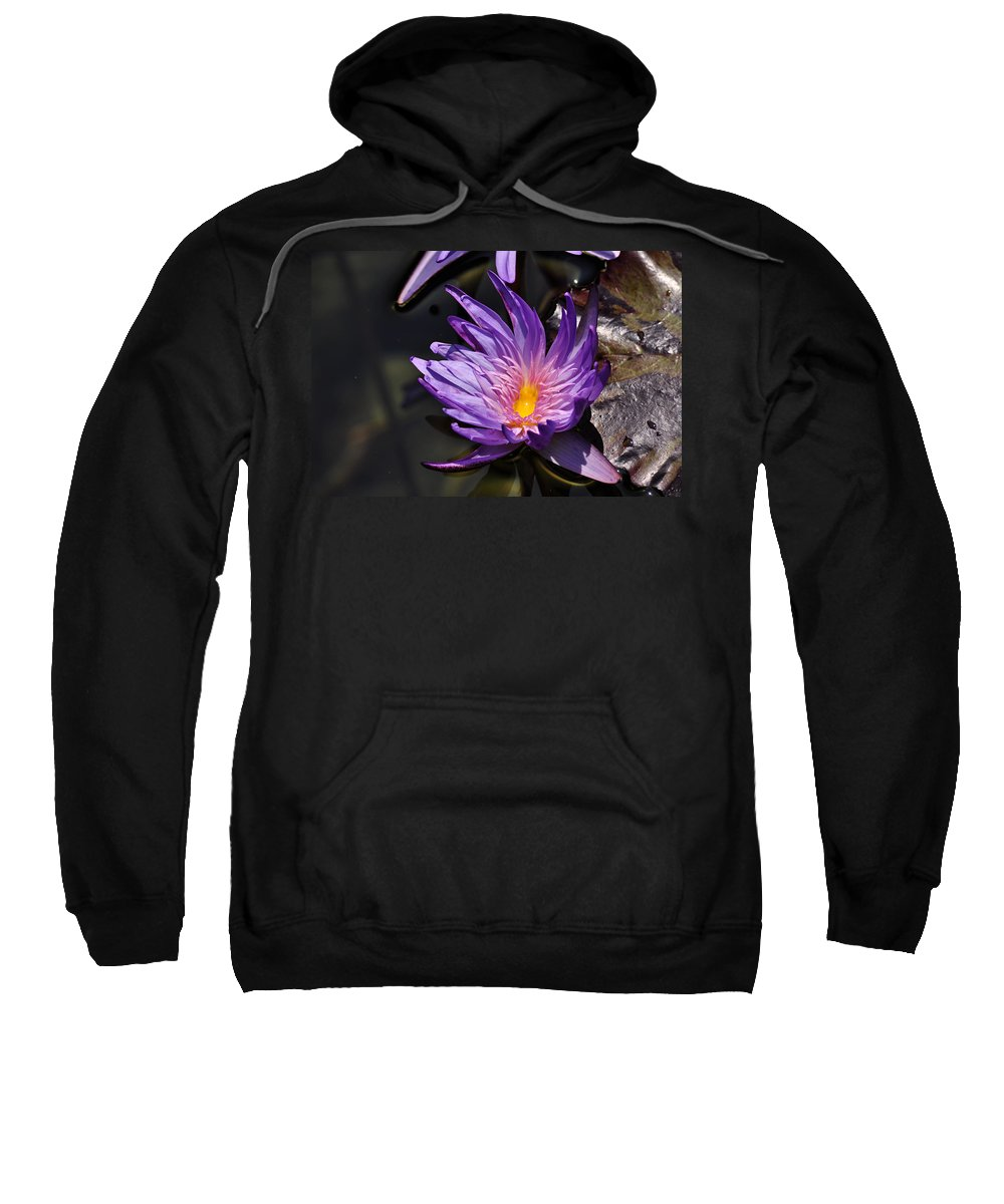 Clay Sweatshirt featuring the photograph Water Floral by Clayton Bruster