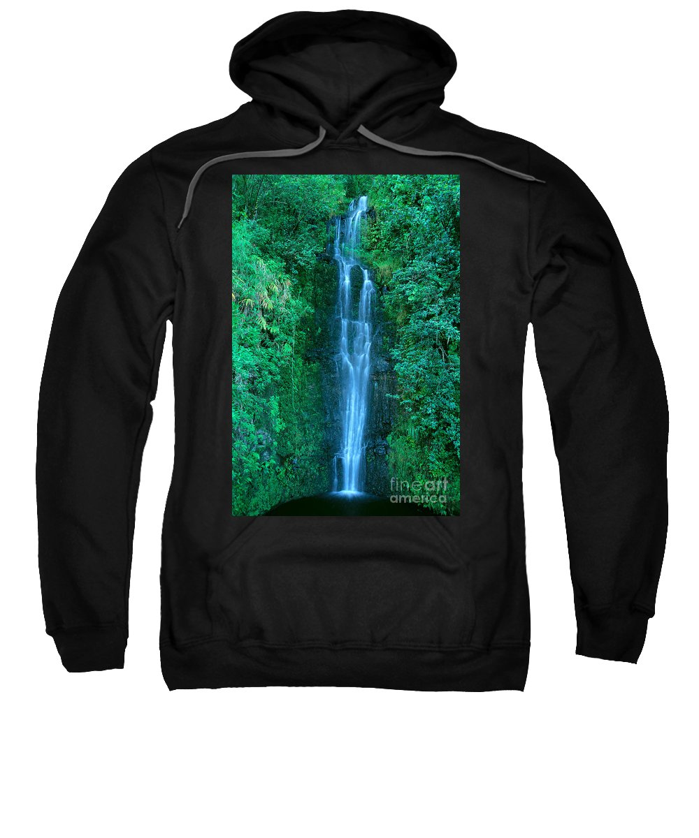 Active Sweatshirt featuring the photograph Waterfall Close-up by Bill Brennan - Printscapes