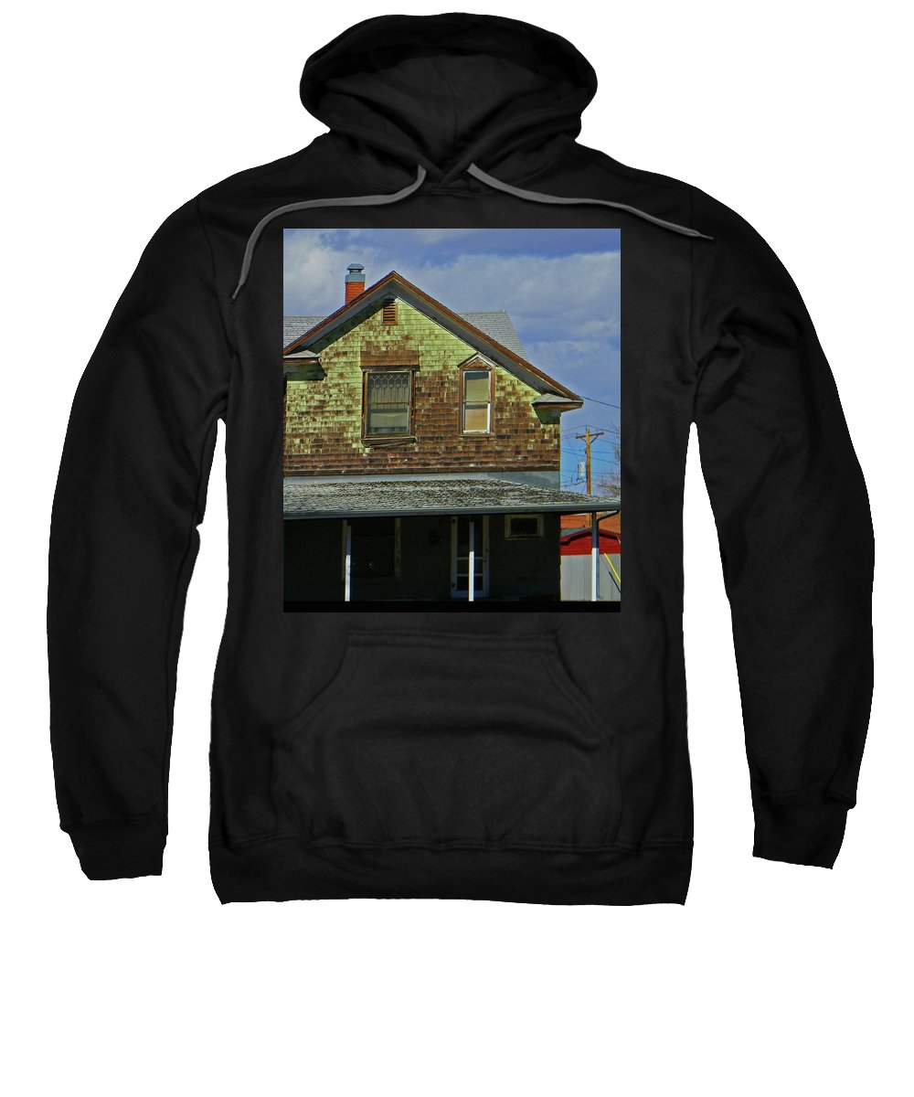 Abstract Sweatshirt featuring the photograph Weather by Lenore Senior