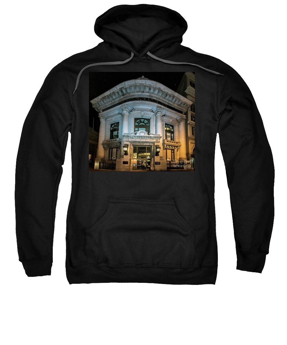 Wells Fargo Bank Sweatshirt featuring the photograph Wells Fargo Bank Building In San Francisco, California by David Oppenheimer