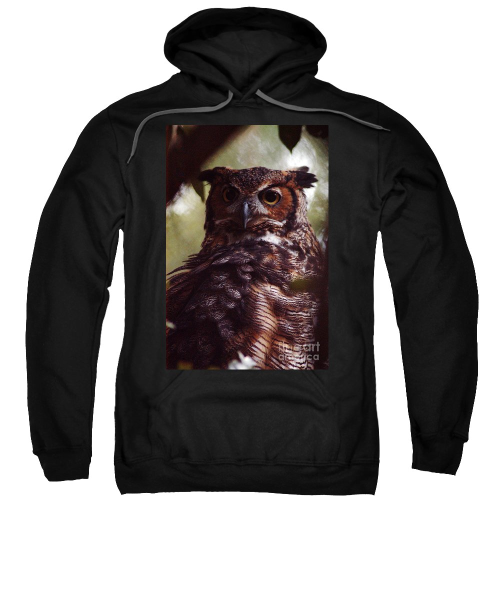 Clay Sweatshirt featuring the photograph WHO by Clayton Bruster