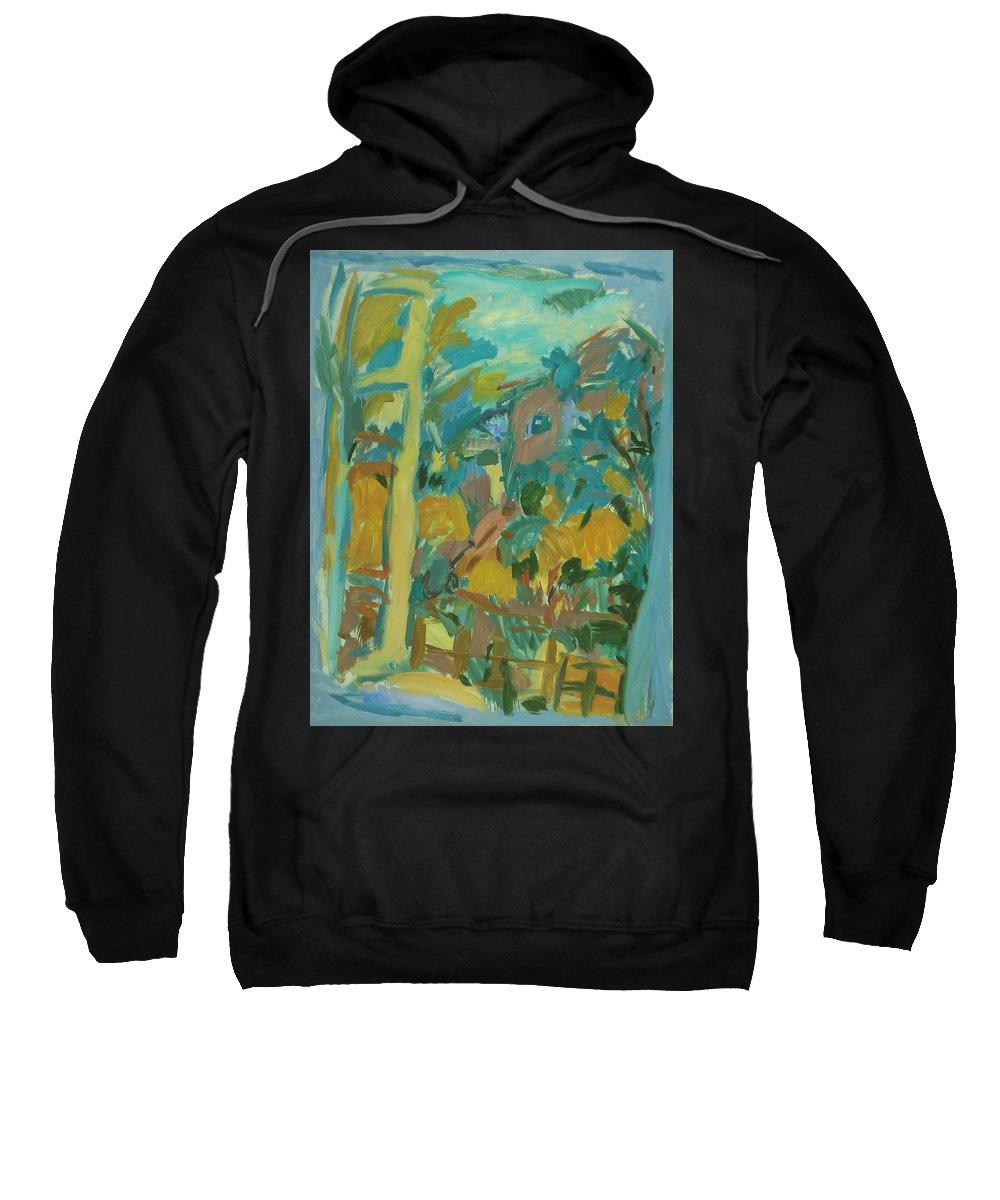 Park Sweatshirt featuring the painting Window by Robert Nizamov