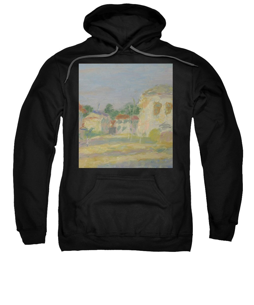 Street Sweatshirt featuring the painting Rostov by Robert Nizamov