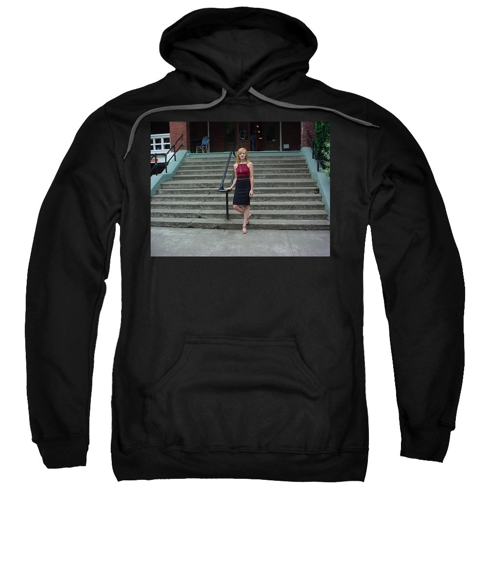Samantha Sweatshirt featuring the photograph 10 by Samantha Sanders