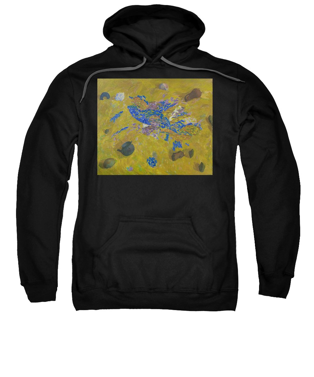Sand Sweatshirt featuring the painting Still Life by Robert Nizamov