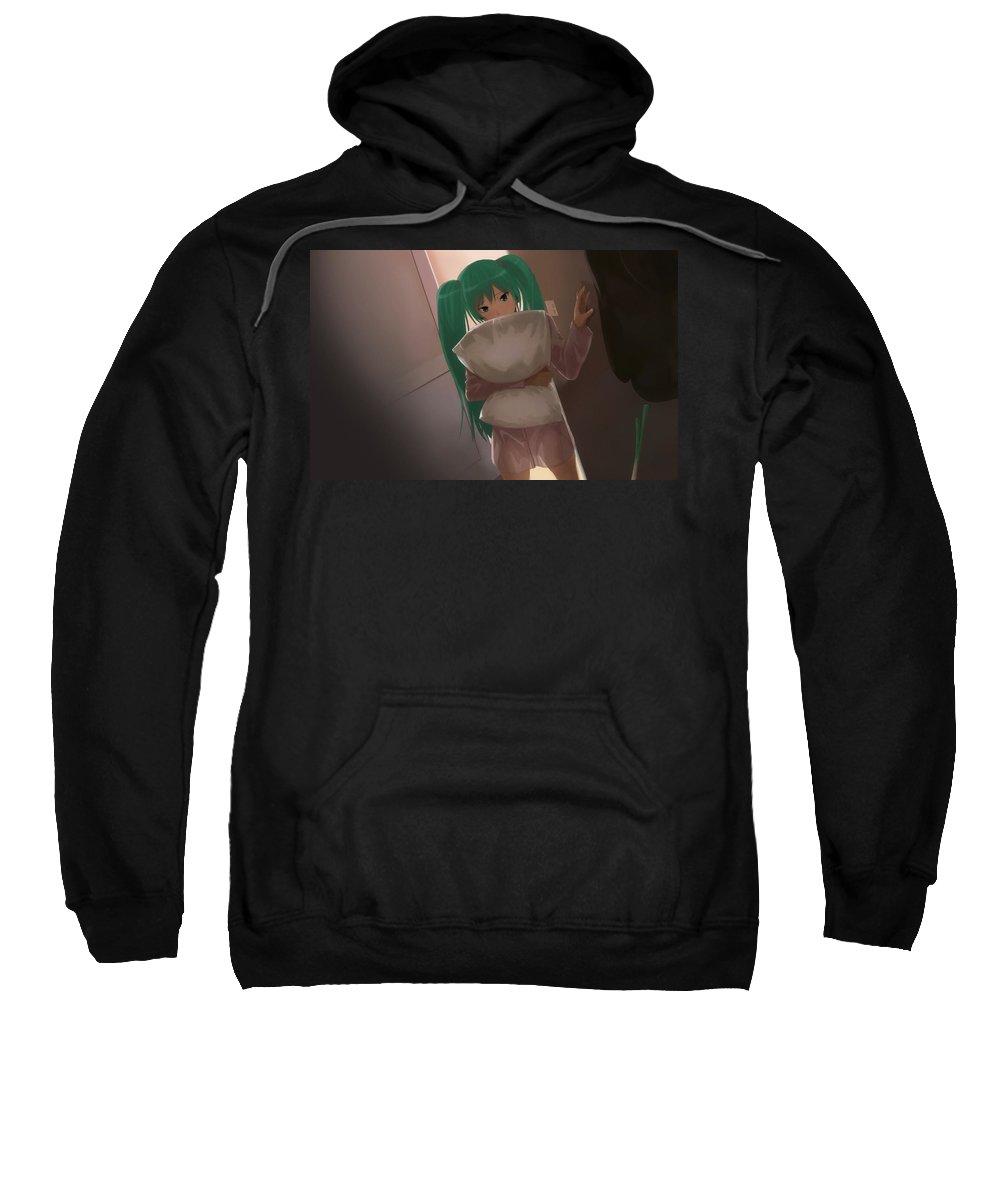 Vocaloid Sweatshirt featuring the digital art Vocaloid by Bert Mailer