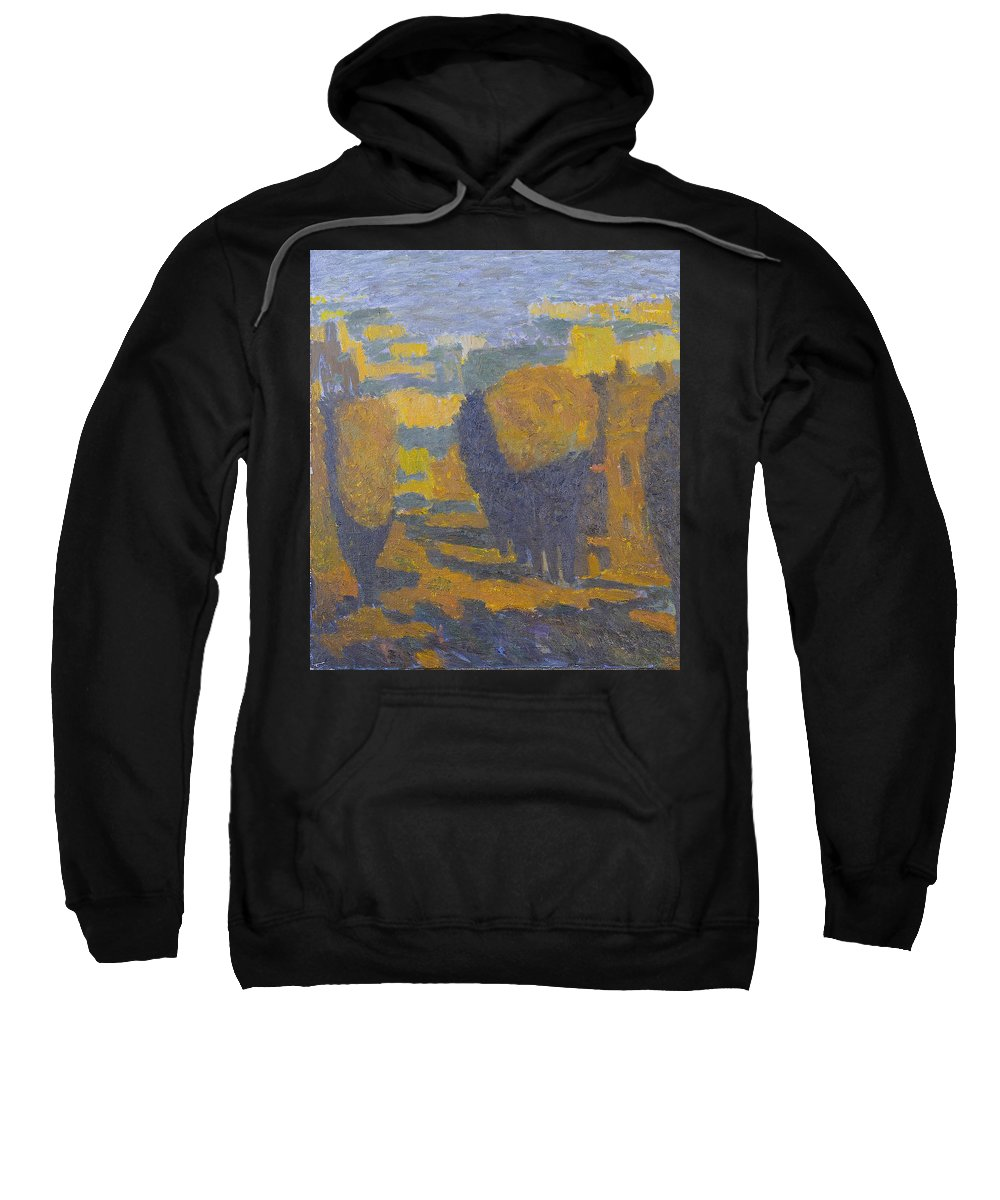 Summer Sweatshirt featuring the painting Sunset by Robert Nizamov