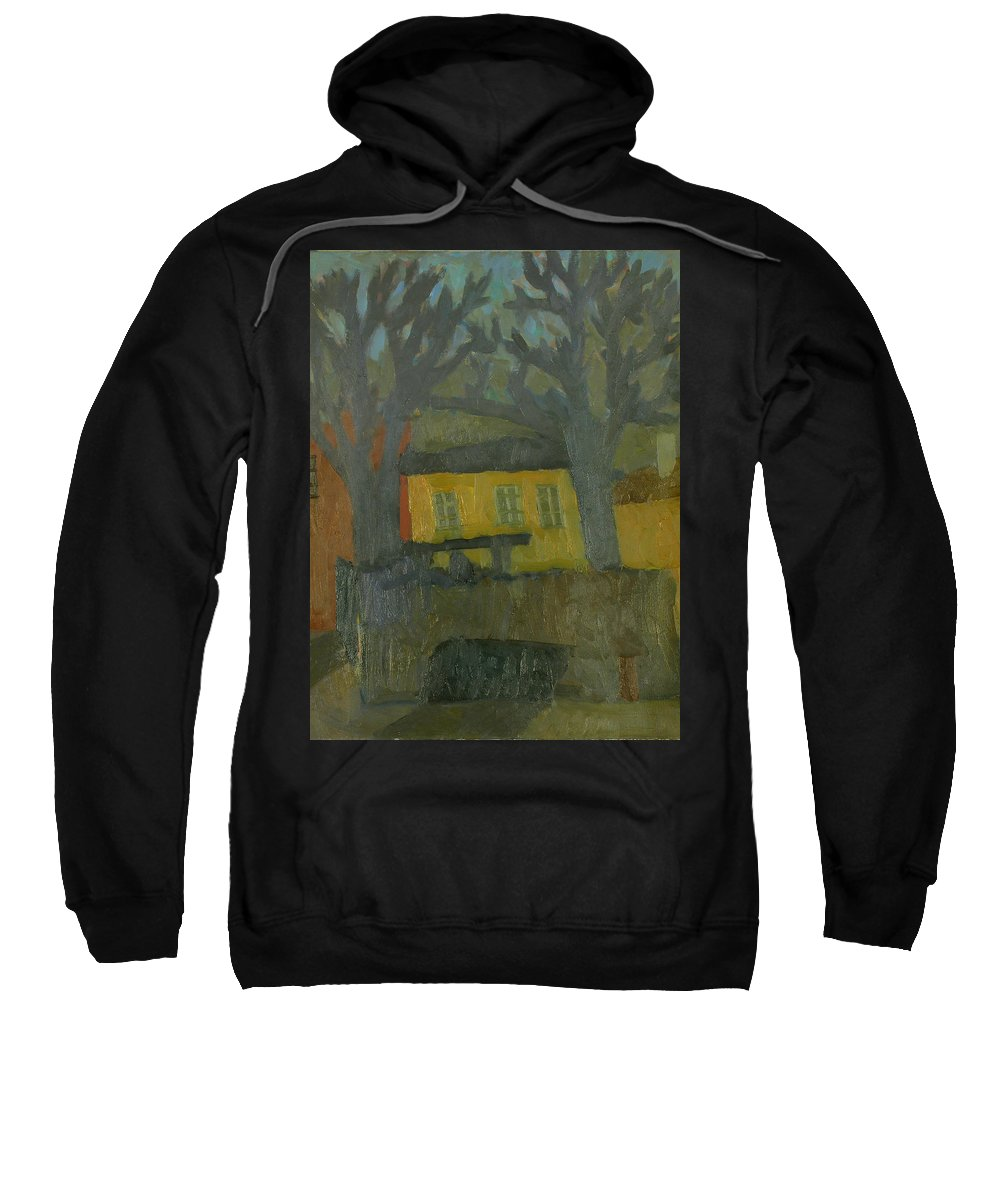 Street Sweatshirt featuring the painting Old House by Robert Nizamov