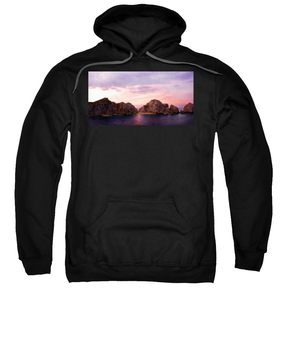 Landscape Sweatshirt featuring the painting Oil Painting Landscape Pictures by World Map