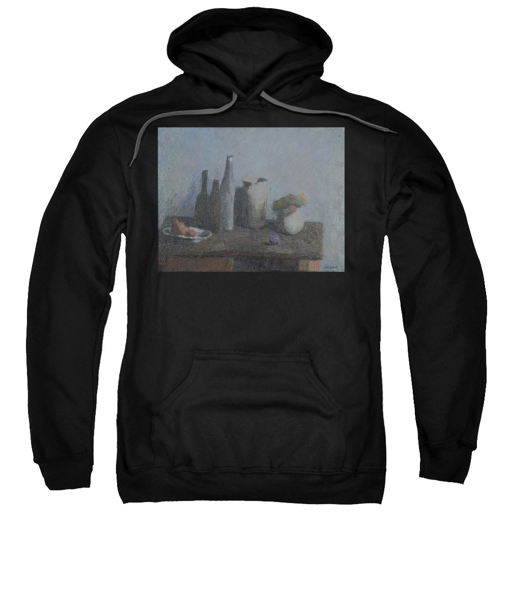 Bottle Sweatshirt featuring the painting Still Life by Robert Nizamov