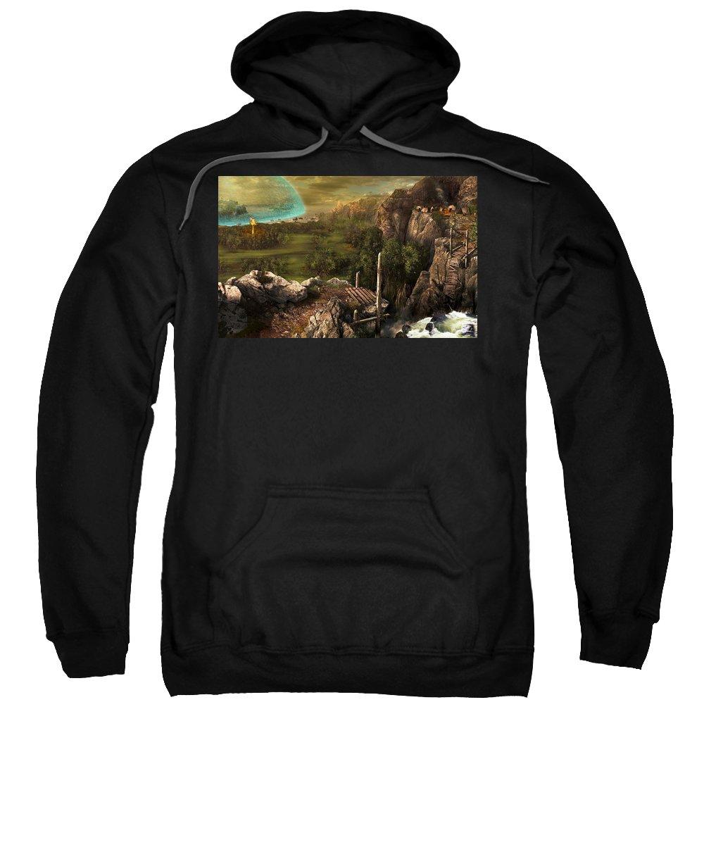 Landscape Sweatshirt featuring the digital art Landscape by Bert Mailer
