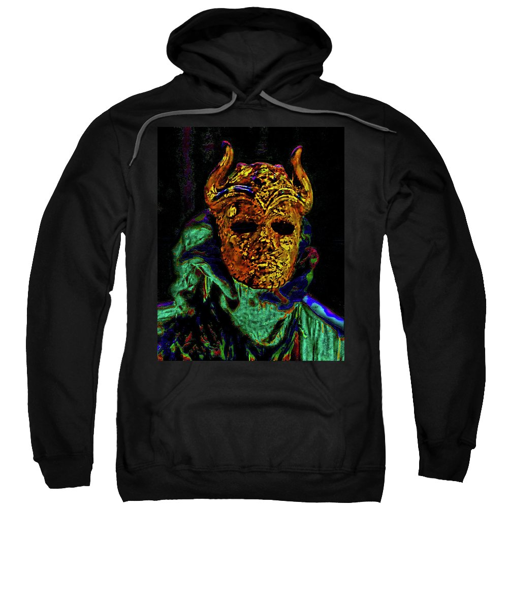 Mask Sweatshirt featuring the photograph Mask. The Sons Of The Harpy. Fantasy. by Andy Za