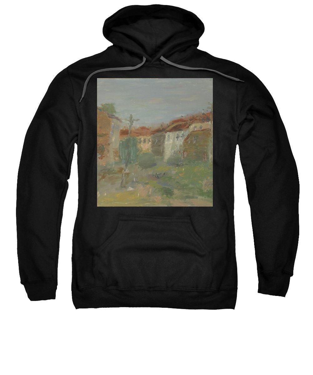 Street Sweatshirt featuring the painting Rostov by Robert Nizamov