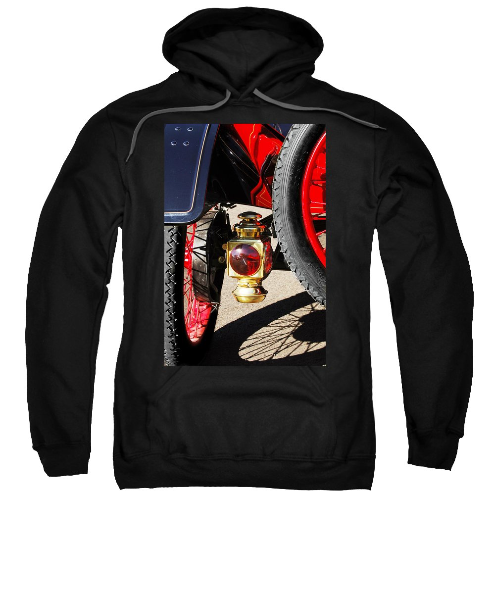 Horseless Carriage Sweatshirt featuring the photograph 1911 Ford Model T Torpedo Lamp by Jill Reger