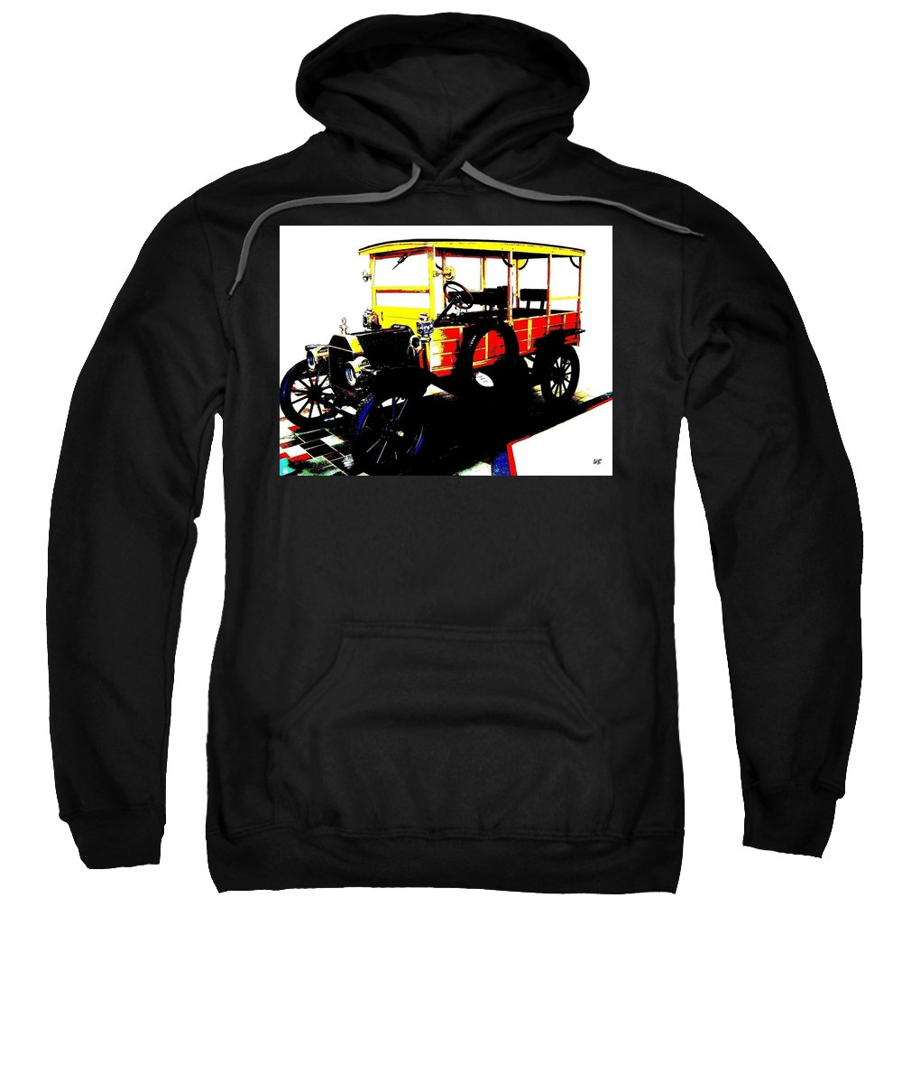 1912 Sweatshirt featuring the digital art 1912 Ford Model T Taxi by Will Borden