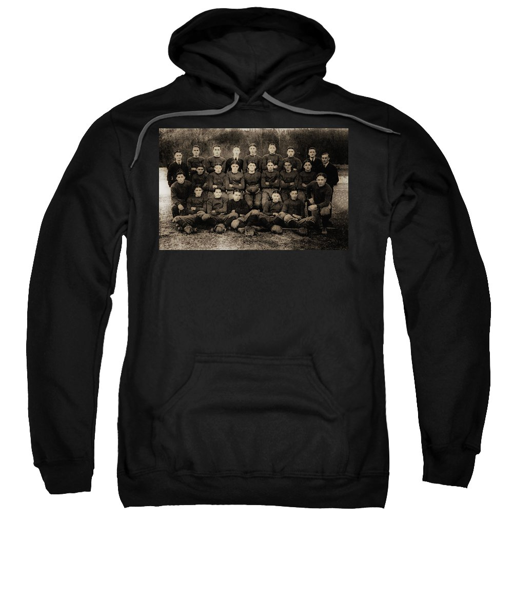 Football Sweatshirt featuring the photograph 1921 Royal Cc Football Champions by Bill Cannon