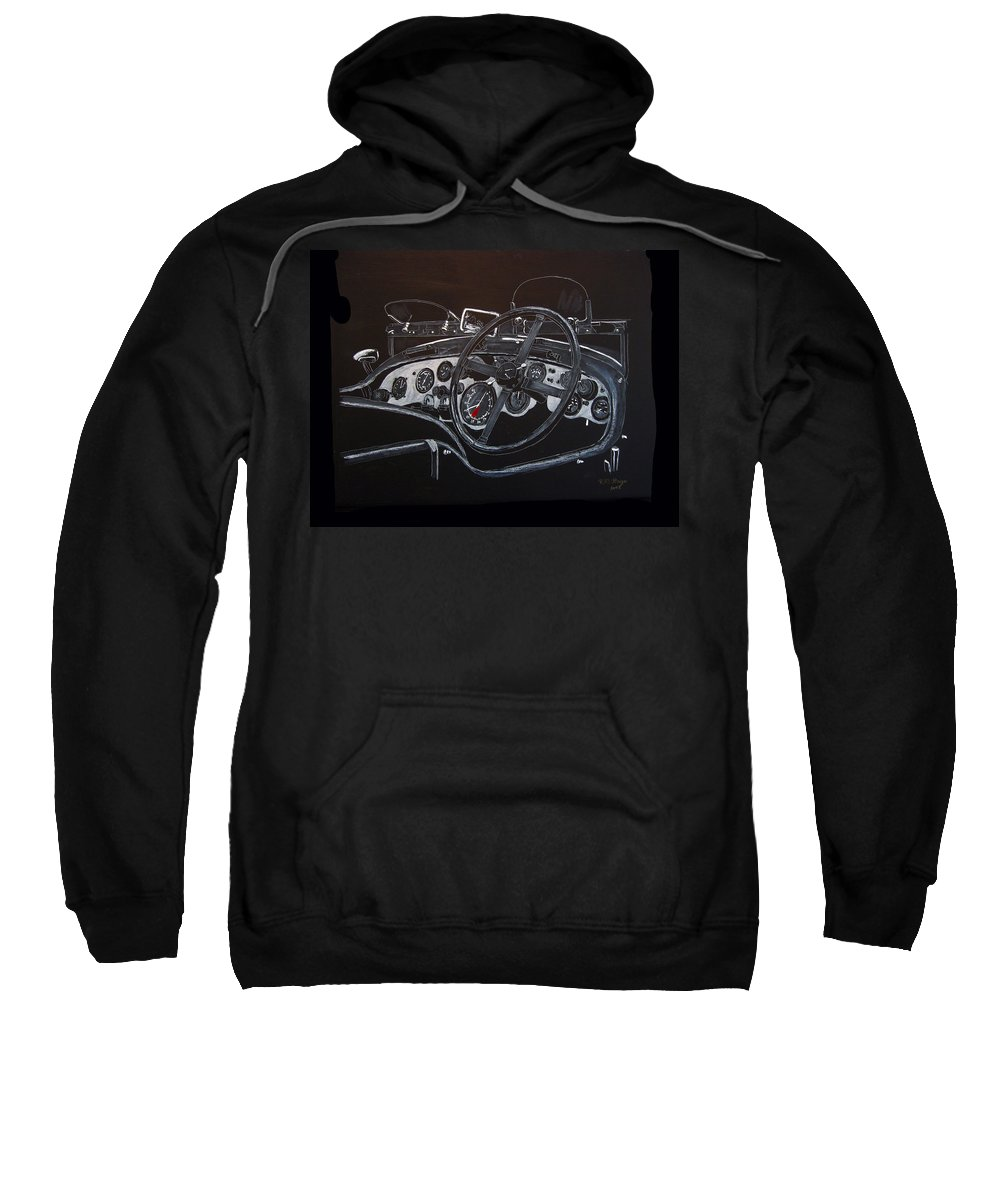 Bentley Sweatshirt featuring the painting 1928 Bentley Dash by Richard Le Page