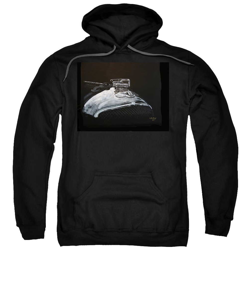 Bentley Sweatshirt featuring the painting 1928 Bentley Rad Cap by Richard Le Page