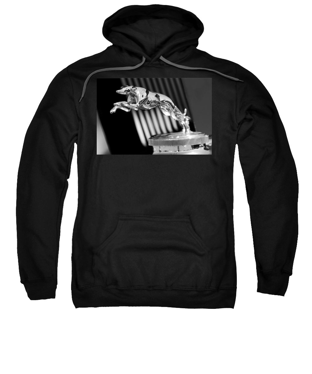 1930 Lincoln Berline Sweatshirt featuring the photograph 1930 Lincoln Berline Hood Ornament by Jill Reger