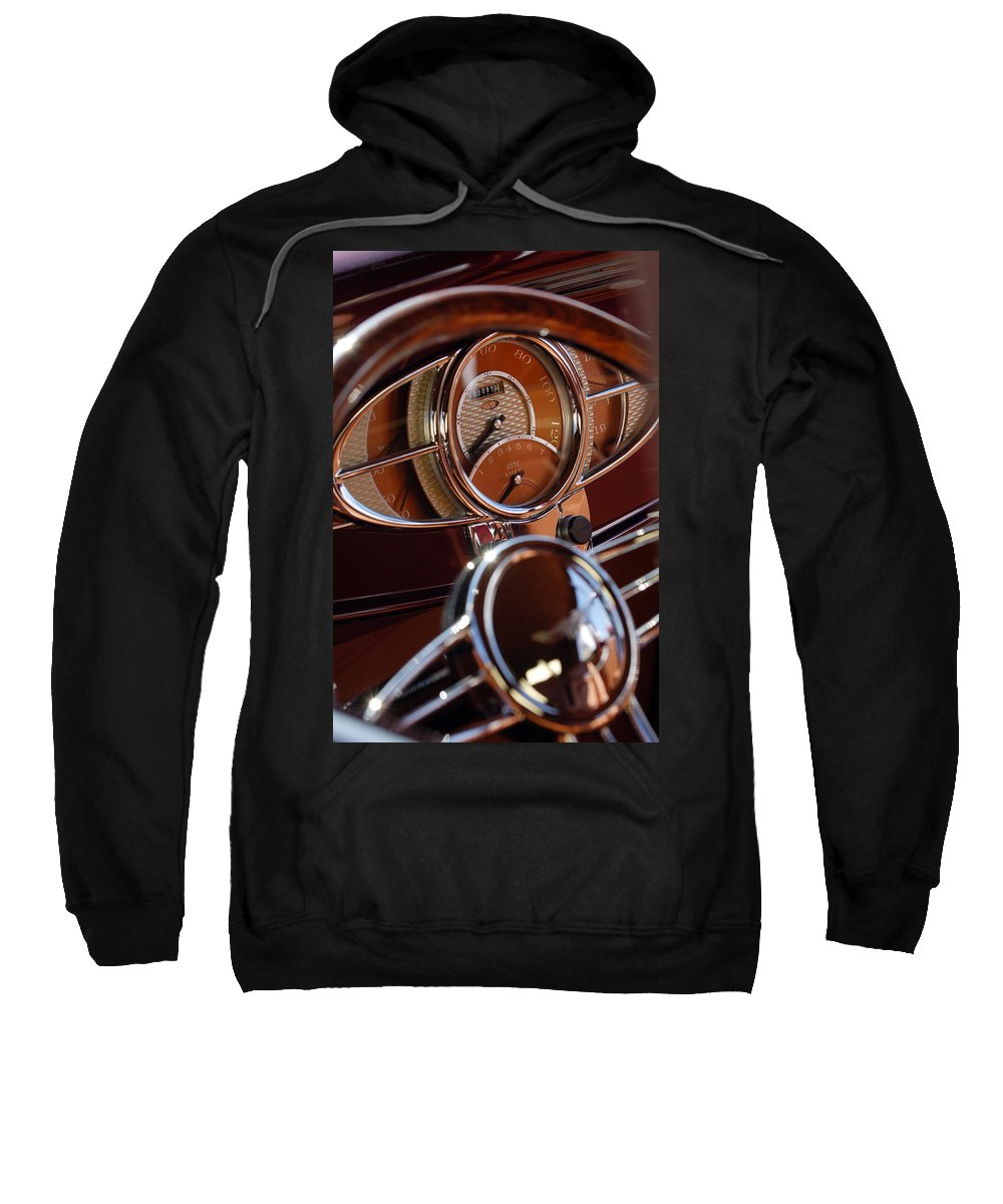 1932 Ford Sweatshirt featuring the photograph 1932 Ford Hot Rod Speedometer by Jill Reger