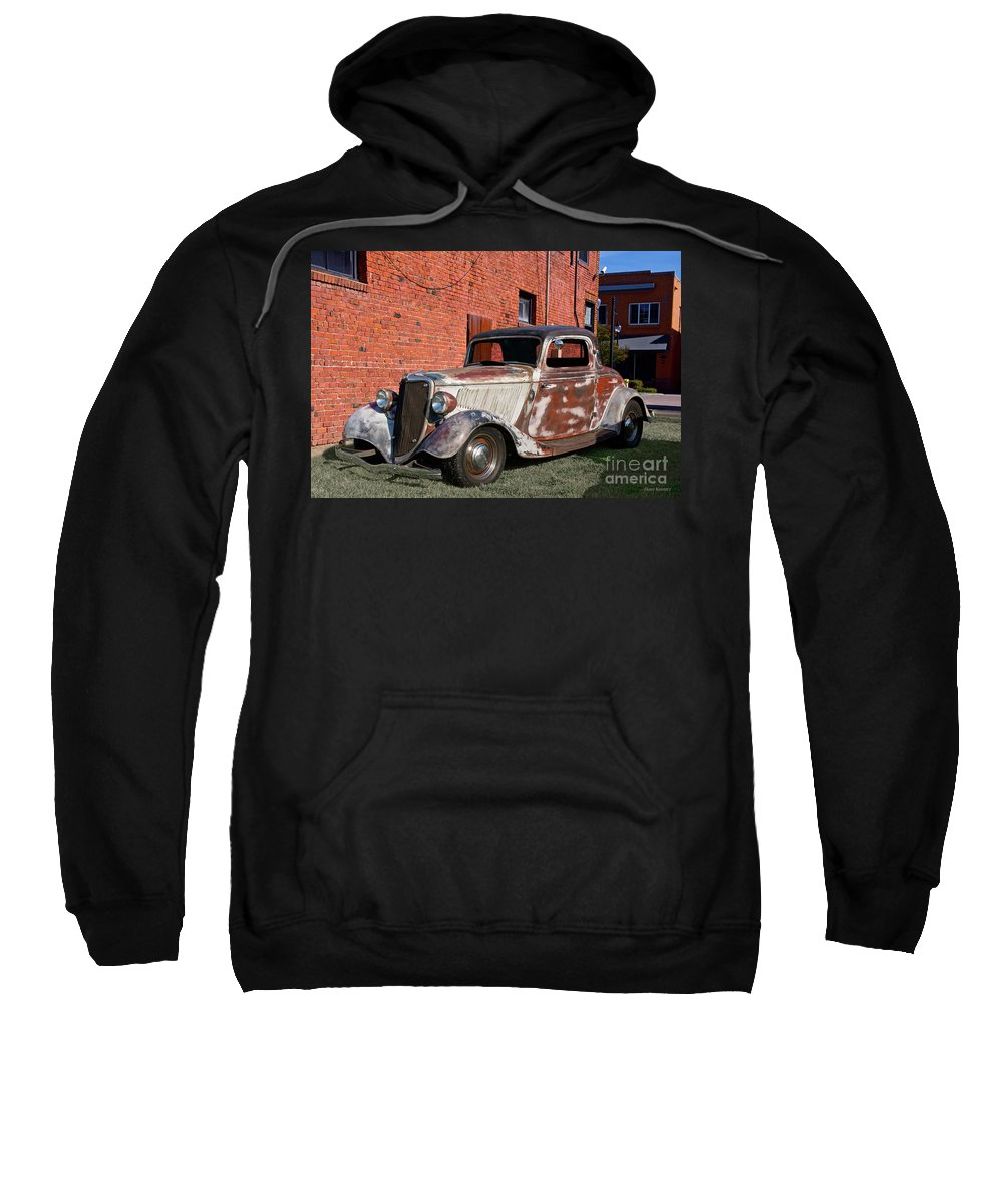 Automobile Sweatshirt featuring the photograph 1934 Ford 'patina Plus' Coupe by Dave Koontz