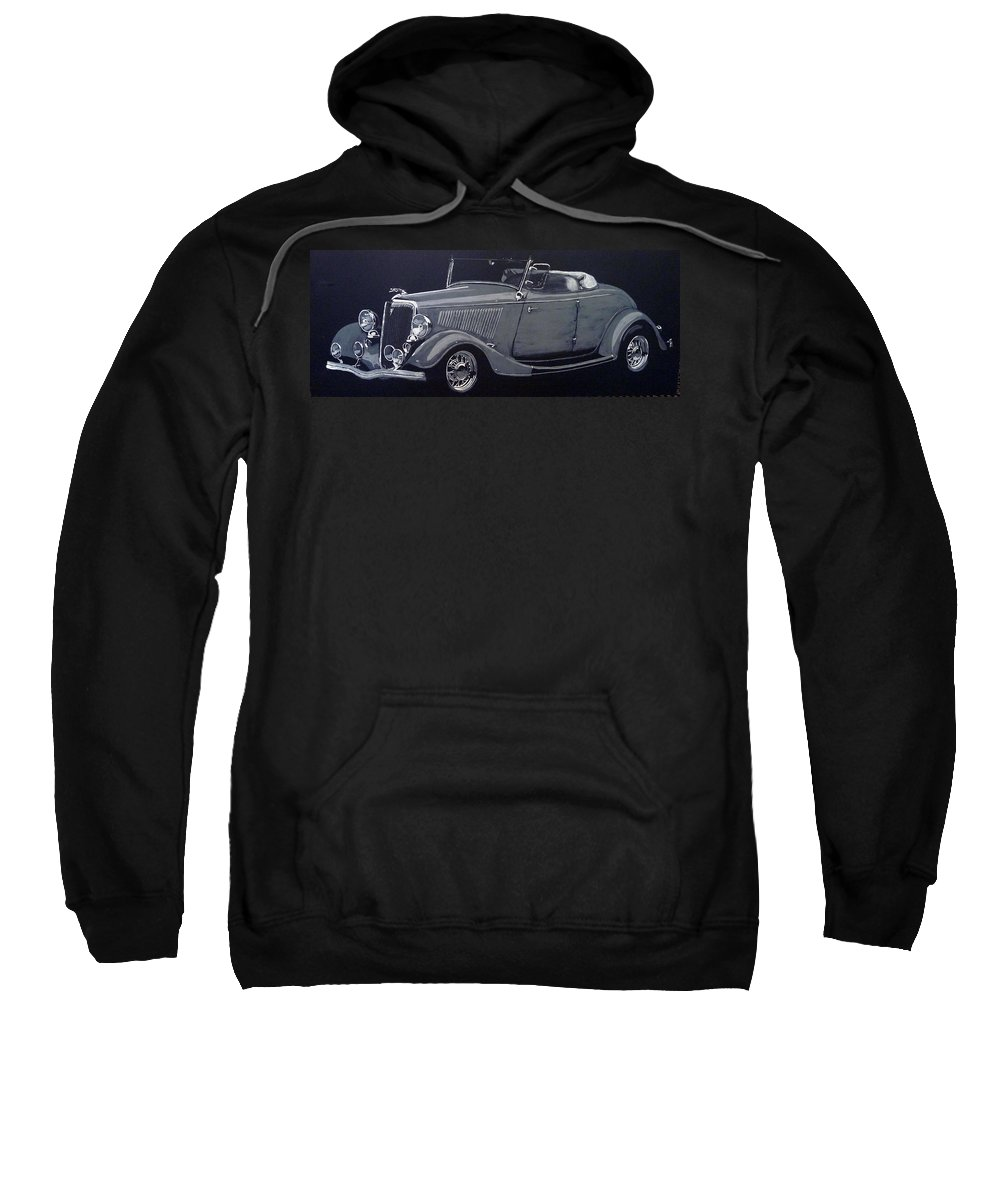 Ford Sweatshirt featuring the painting 1934 Ford Roadster by Richard Le Page