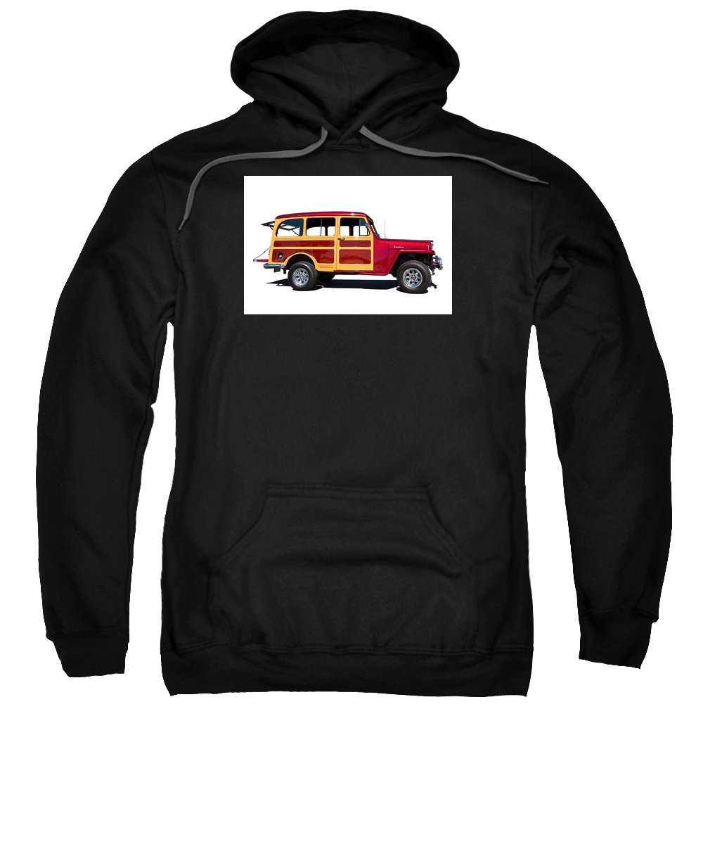 1951 Sweatshirt featuring the photograph 1951 Willy's Jeep Wagon by Nick Gray