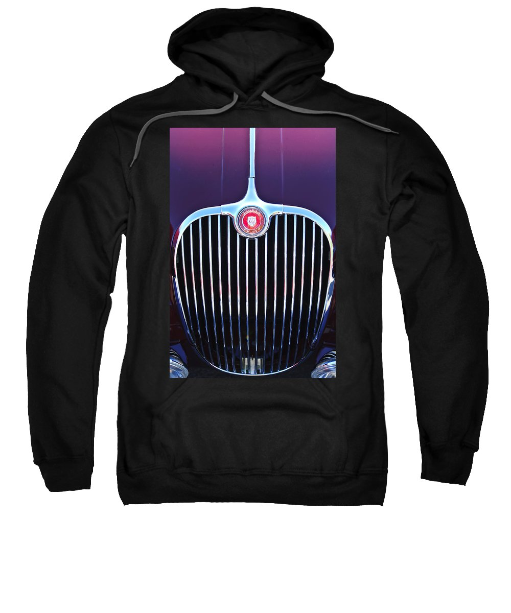 1960 Jaguar Xk150 Roadster Sweatshirt featuring the photograph 1960 Jaguar Xk150 Roadster 2 by Jill Reger