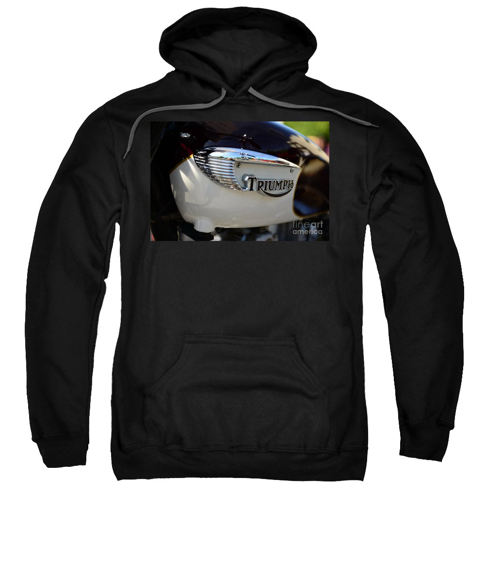 1967 Triumph Gas Tank Sweatshirt featuring the photograph 1967 Triumph Gas Tank 2 by Paul Ward