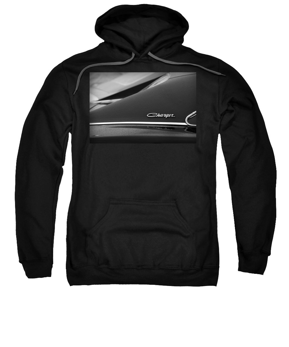 1968 Sweatshirt featuring the photograph 1968 Dodge Charger by Gordon Dean II