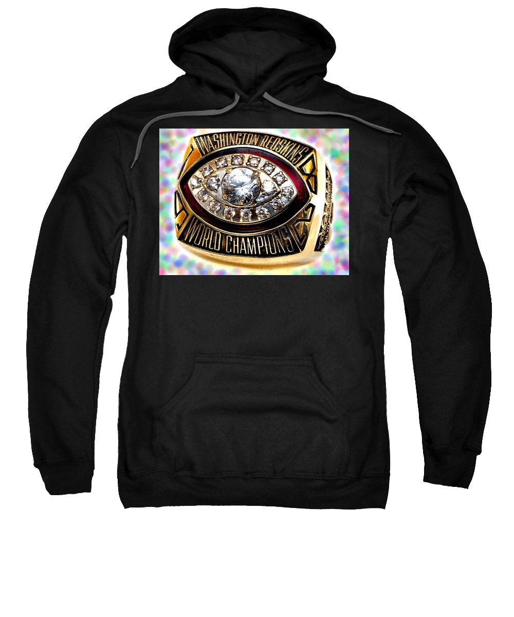 Redskins Sweatshirt featuring the photograph 1982 Redskins Super Bowl Ring by Paul Van Scott