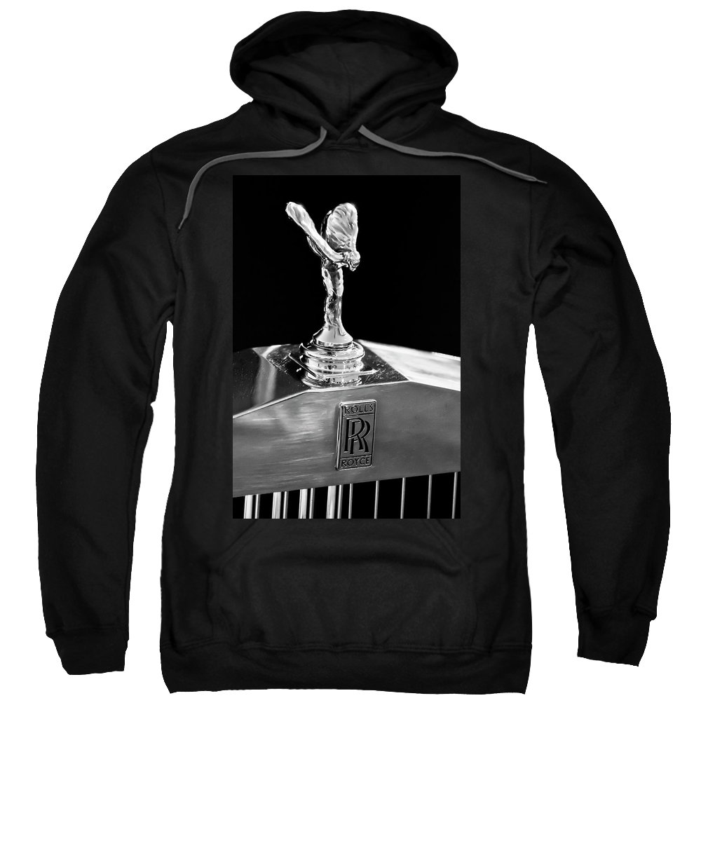 1986 Rolls-royce Sweatshirt featuring the photograph 1986 Rolls-royce Hood Ornament 2 by Jill Reger