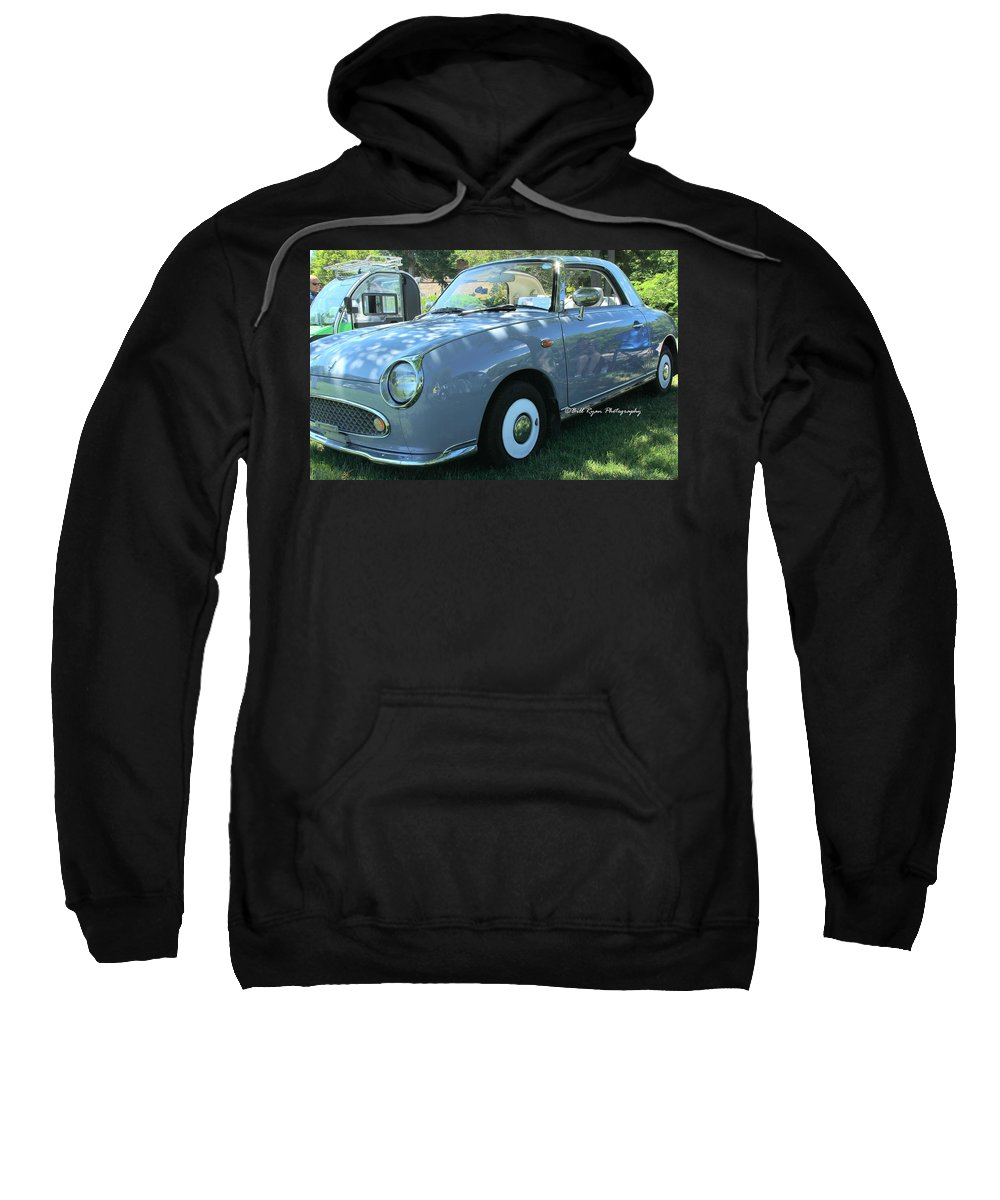 Nissan Sweatshirt featuring the photograph 1991 Nissan Figaro by Bill Ryan