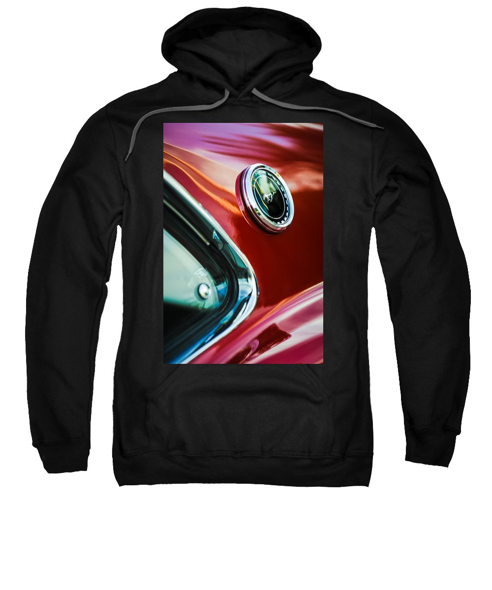 1969 Ford Mustang Mach 1 Sweatshirt featuring the photograph 1969 Ford Mustang Mach 1 Emblem by Jill Reger