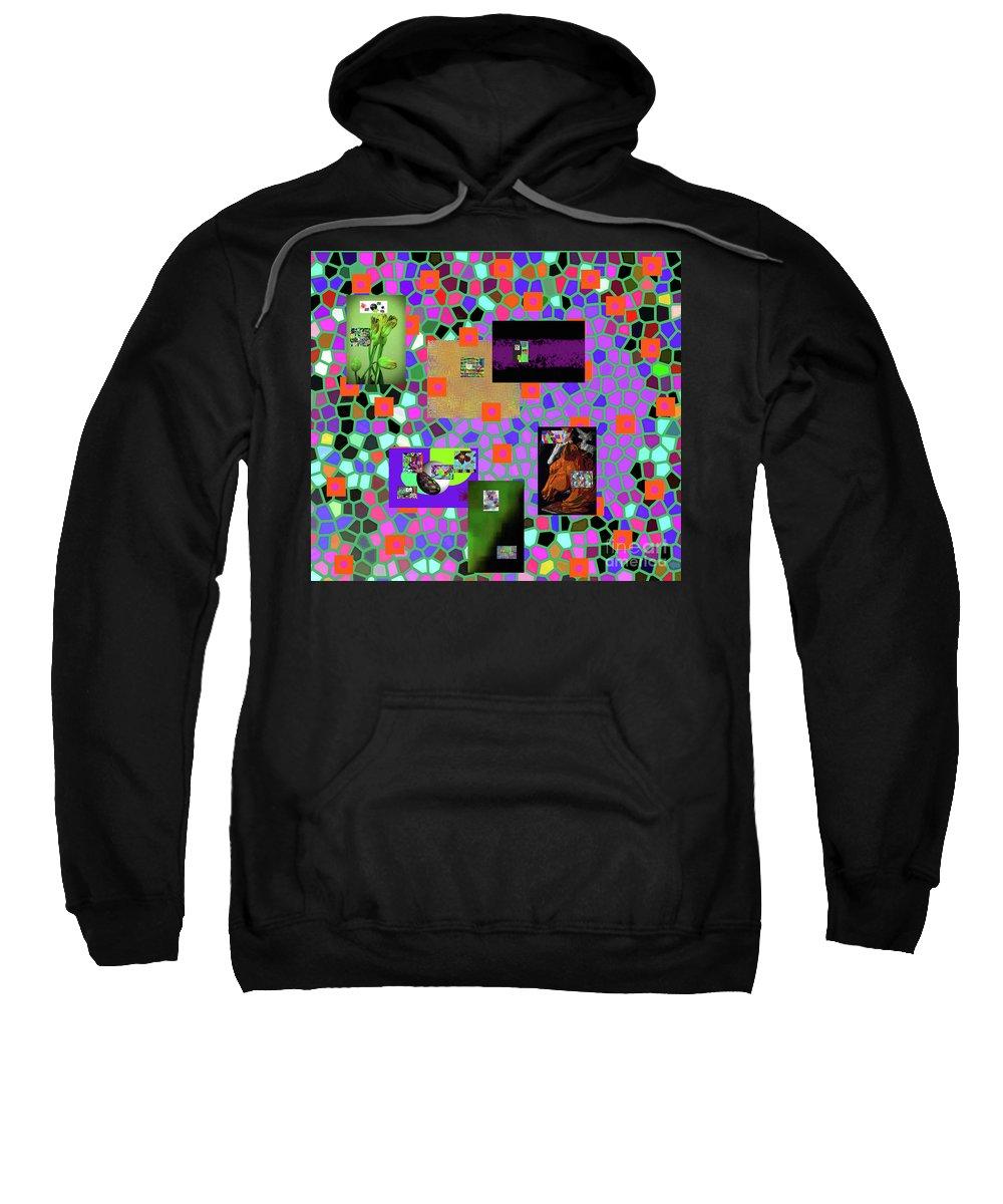 Walter Paul Bebirian Sweatshirt featuring the digital art 2-9-2016babcdefghijklmnopqrtuvwxyzab by Walter Paul Bebirian