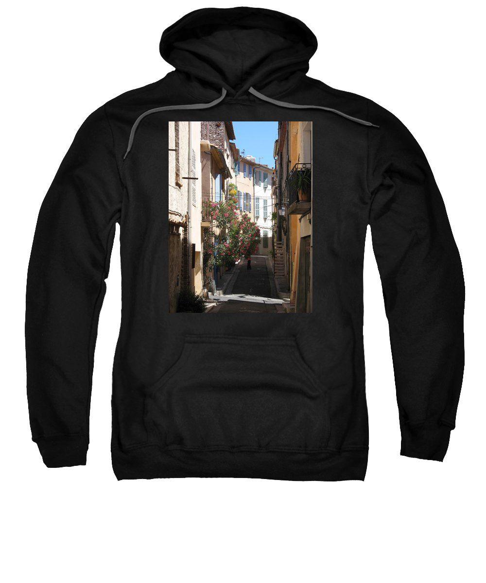 Alley Sweatshirt featuring the photograph Alley - Provence by Christiane Schulze Art And Photography