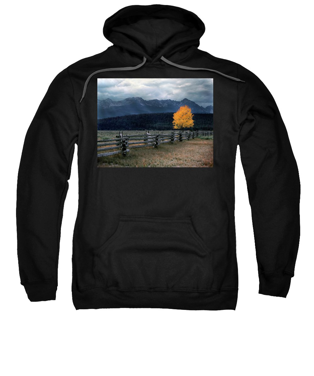 Idaho Scenics Sweatshirt featuring the photograph Autumn Light by Leland D Howard
