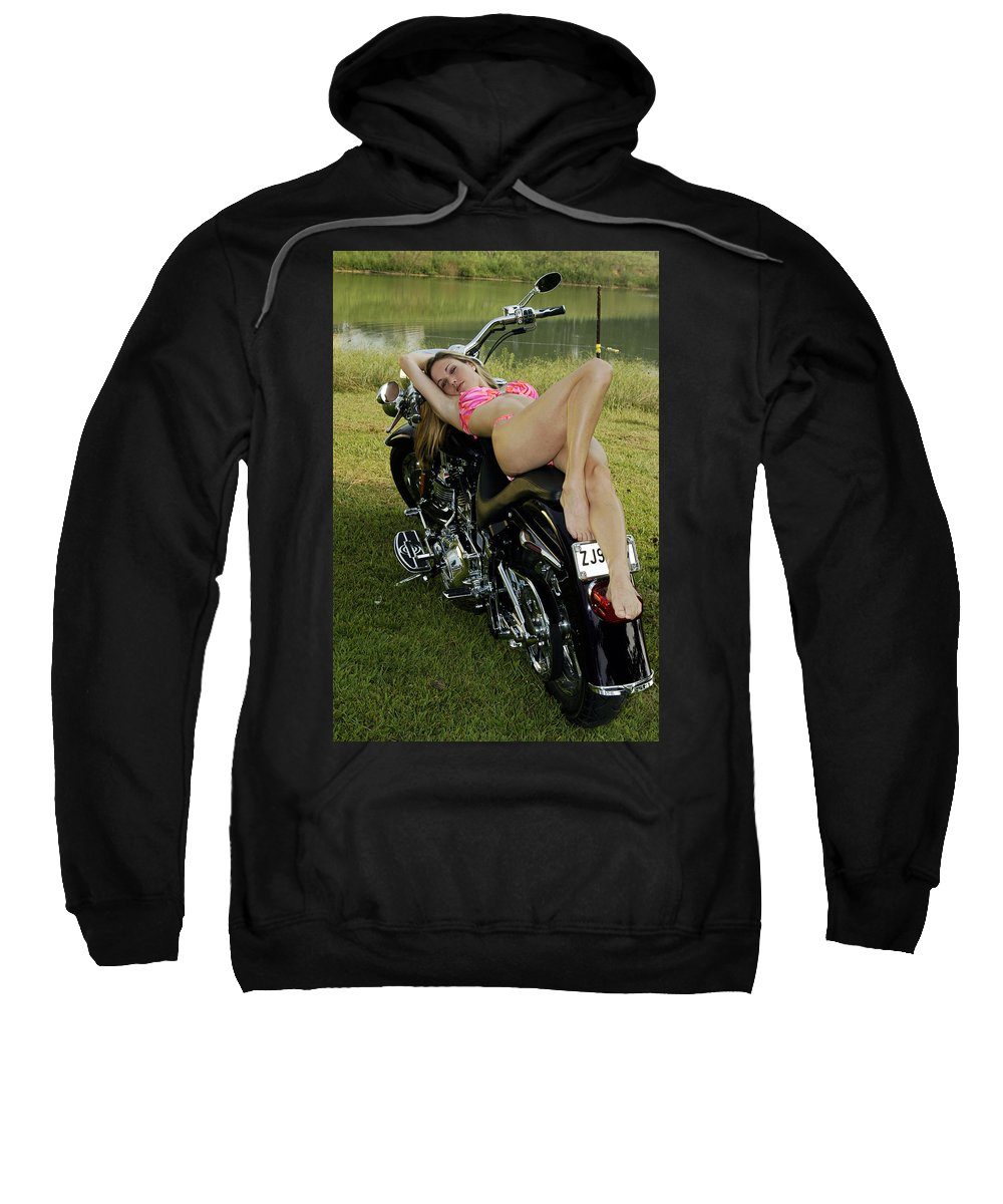 Sweatshirt featuring the photograph Bikes And Babes by Clayton Bruster