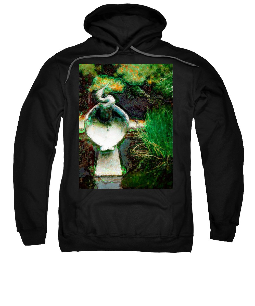 Blue Heron Sweatshirt featuring the photograph Blue Heron by Donna Bentley