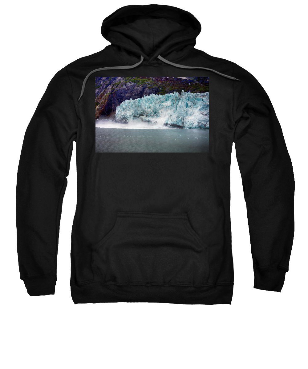 Calving Sweatshirt featuring the photograph Calving Glacier by Hugh Smith