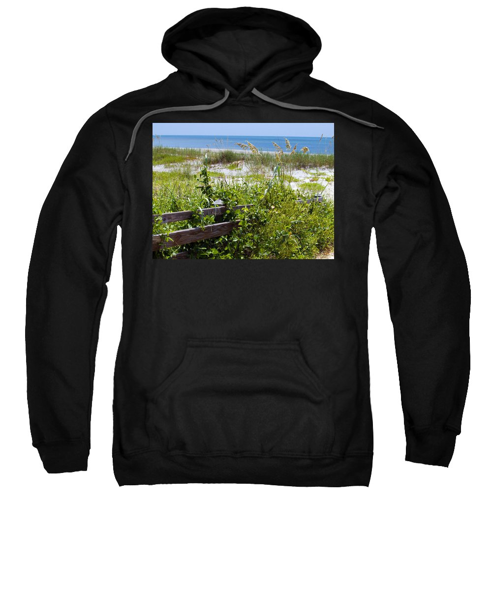 Florida; Beach; Ocean; Waves; Wave; Surf; Sand; Sandy; Coast; Shore; Atlantic; Cape; Canaveral; Scen Sweatshirt featuring the photograph Cape Canaveral Florida by Allan Hughes